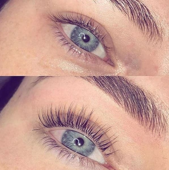 Lash Lifts - Before and After